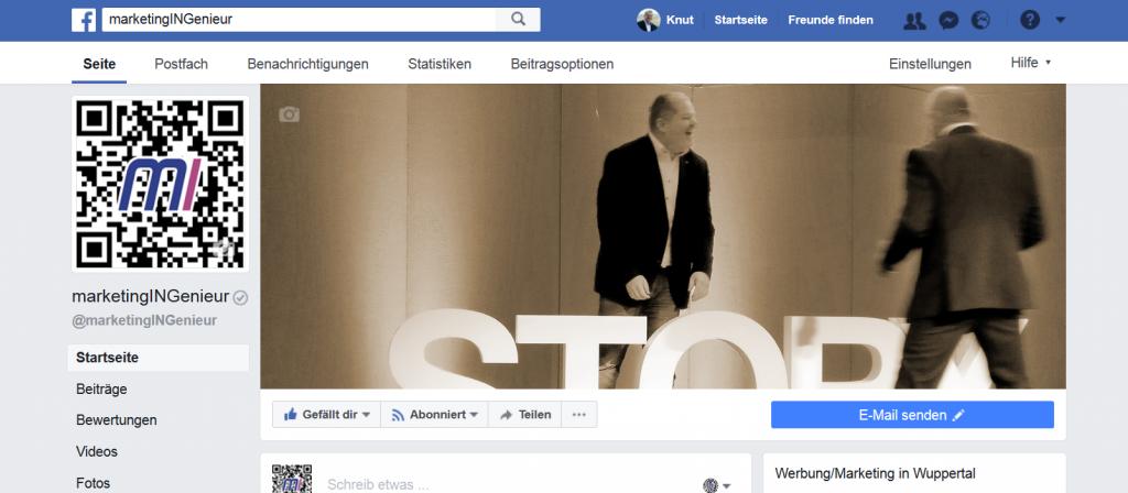 verifizierte Facebook-Seite von marketingINGenieur Dr.-Ing. Knut Marhold